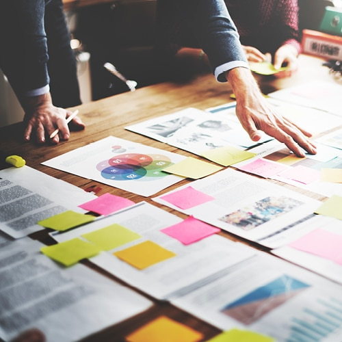 reunion pub strategique dans une agence de communication