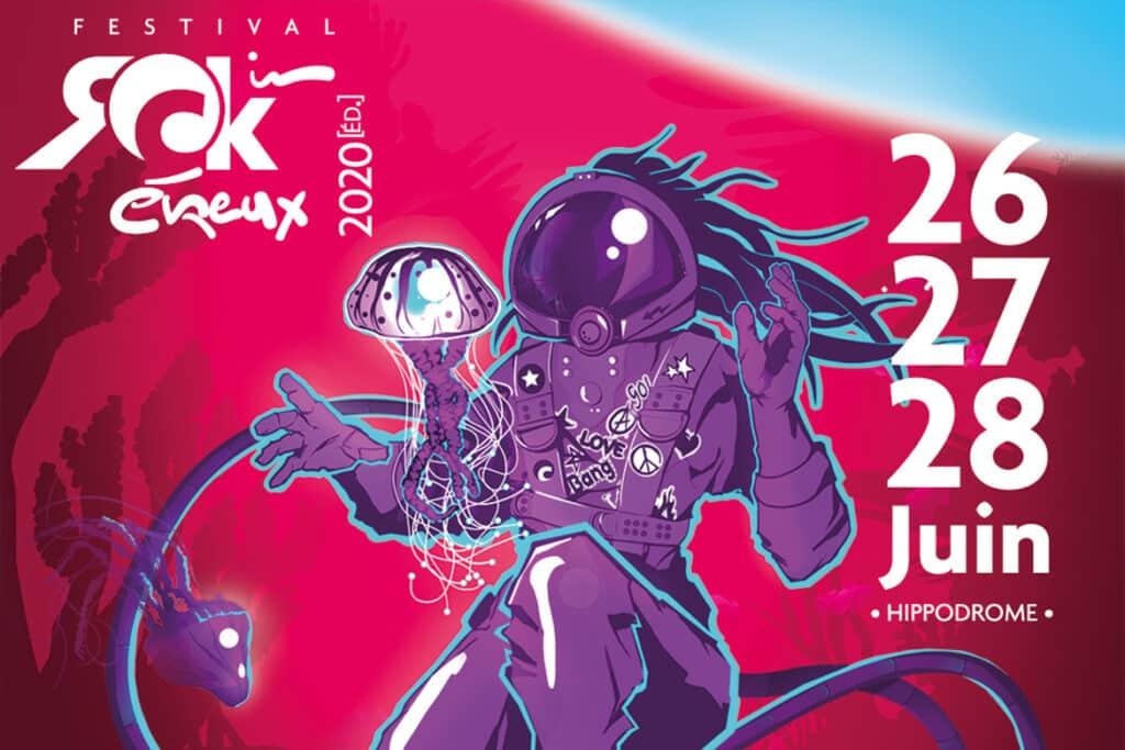Affiche festival rock in evreux